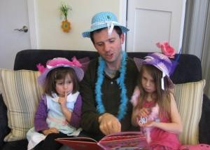 Dad at Tea Party